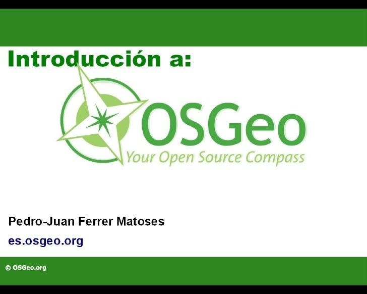 Presentación de OSGeo-es en la I BarCamp Valencia