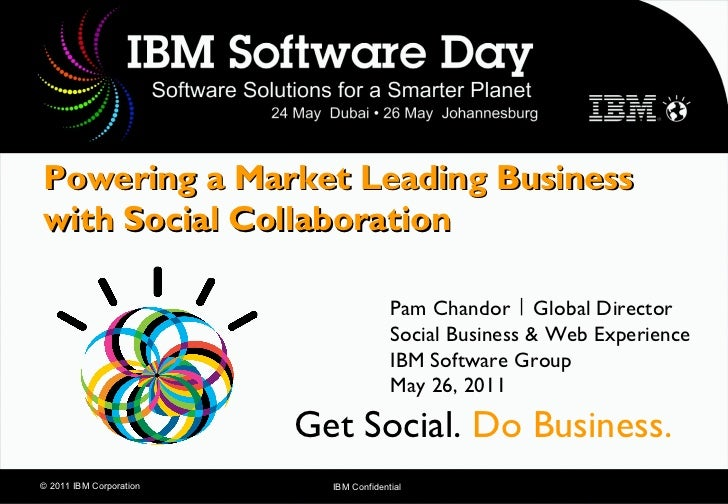 Powering a Market Leading Businesswith Social Collaboration                                        Pam Chandor | Global Di...