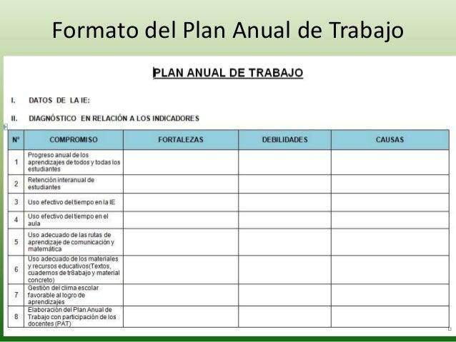 Plan Anual de Trabajo 2014 - Compromisos de Gestión Escolar