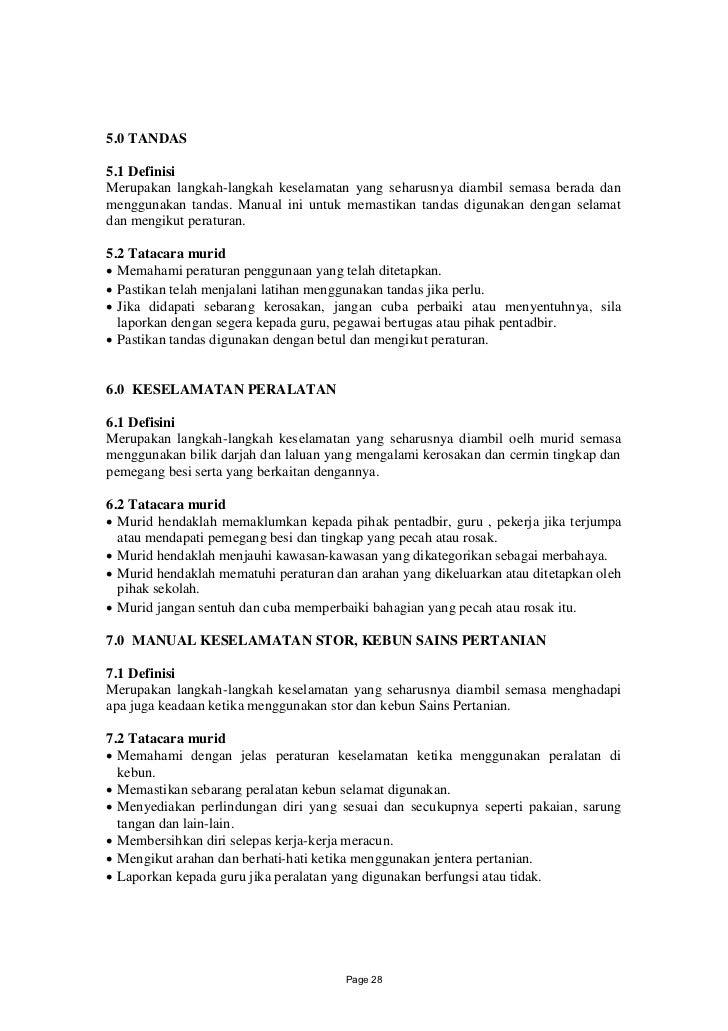 5.0 TANDAS5.1 DefinisiMerupakan langkah-langkah keselamatan yang seharusnya diambil semasa berada danmenggunakan tandas. M...