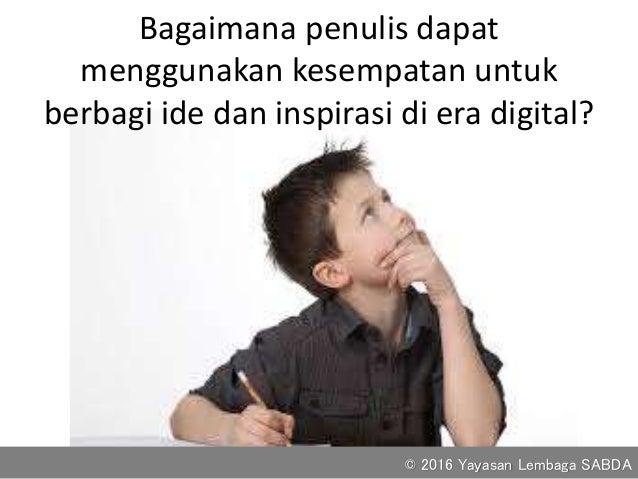 Peluang menulis di era digital Slide 3