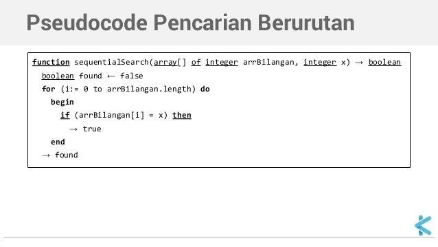 Algoritma Dan Struktur Data Sequential Search