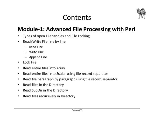 write array into file perl