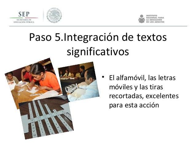 Paso 5.Integración de textos significativos • El alfamóvil, las letras móviles y las tiras recortadas, excelentes para est...