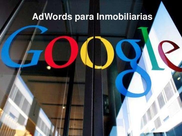 AdWords para Inmobiliarias