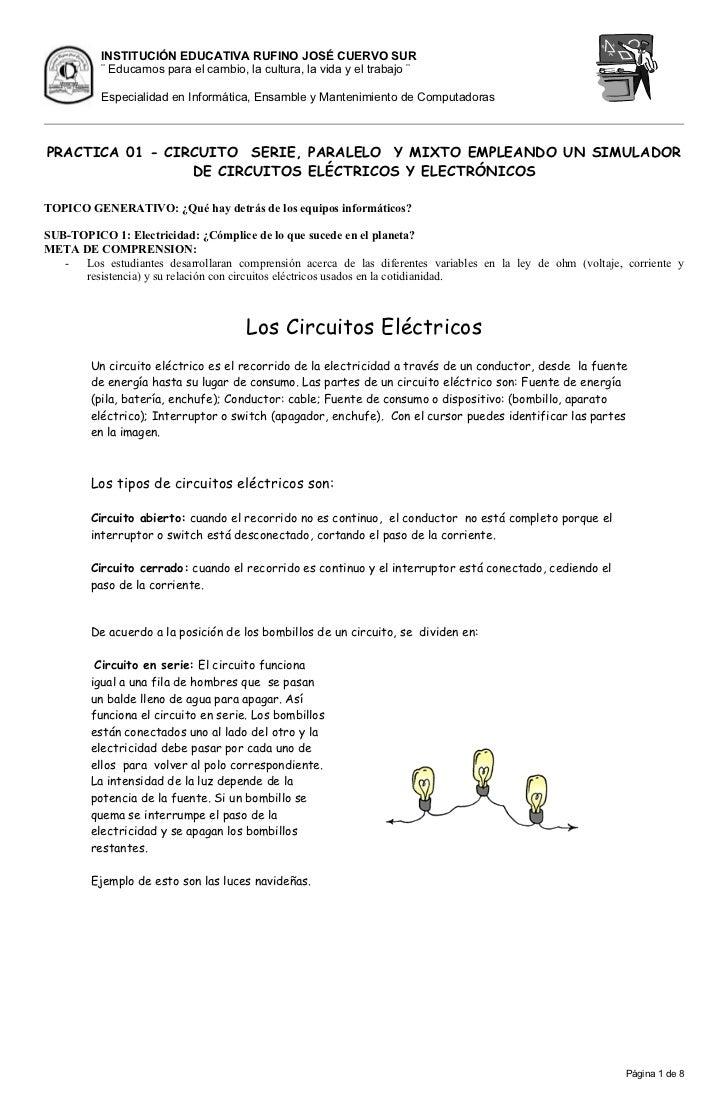 Circuito Seri E Paralelo : Practica serie y paralelo