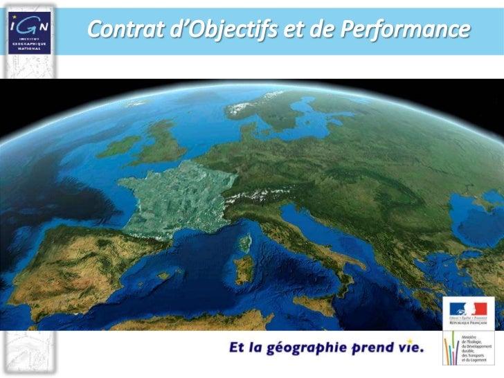 Contrat d'Objectifs et de Performance<br />