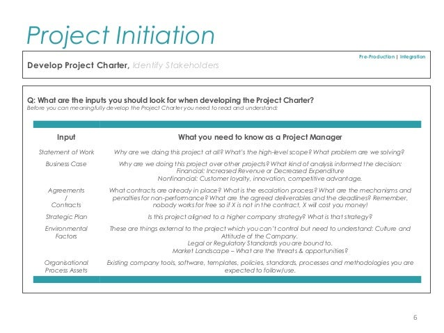 Pmp project initiation template for professionals project charter risk 5 6 accmission Image collections