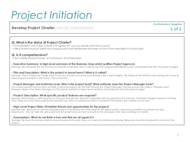 Pmp project initiation template for professionals 7 accmission Image collections