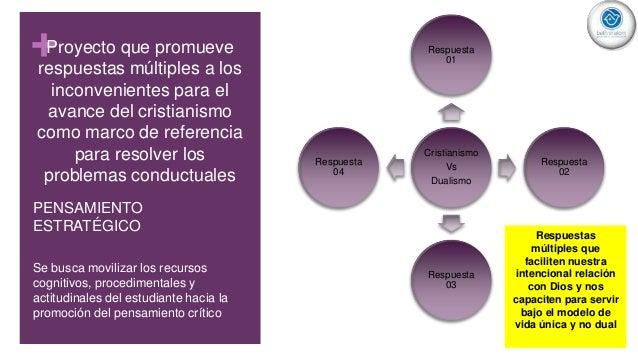 +Proyecto que promueve respuestas múltiples a los inconvenientes para el avance del cristianismo como marco de referencia ...
