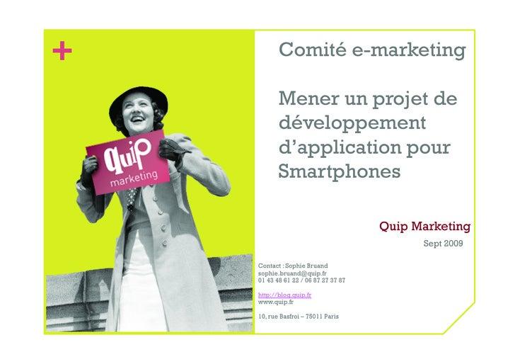 +          Comité e-marketing             Mener un projet de            développement            d'application pour       ...