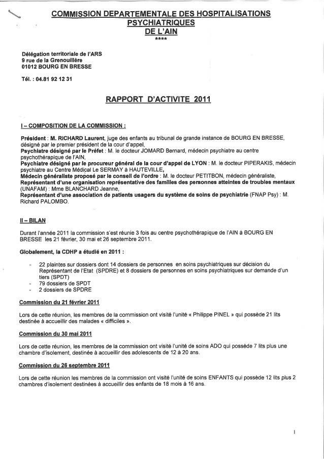 01 rapport activité cdsp 2011
