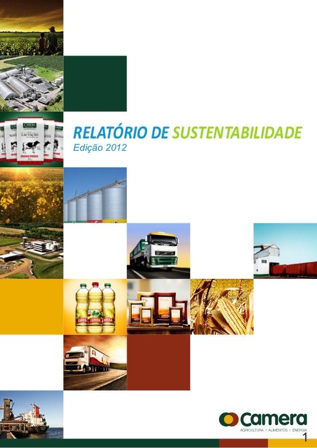 RELATÓRIO DE SUSTENTABILIDADEEdição 20121