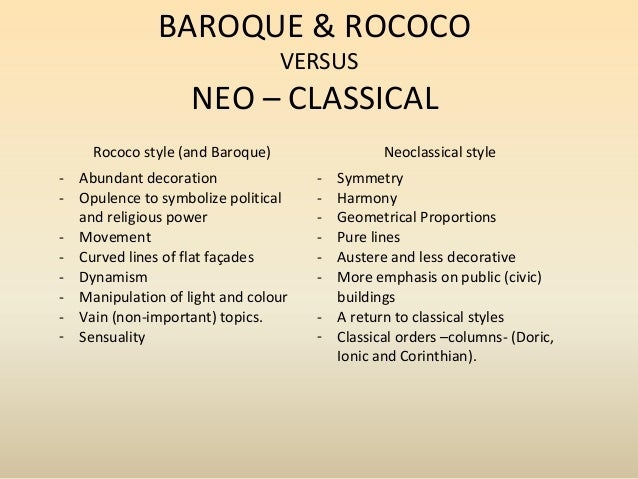 a comparison of concepts between romanticism and neoclassicism Difference between classical & neoclassical architecture neoclassicism still had a romantic element that was partially grounded in a fascination with ancient.