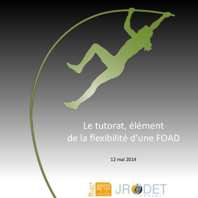 Le tutorat, élément de la flexibilité d'une FOAD 12 mai 2014
