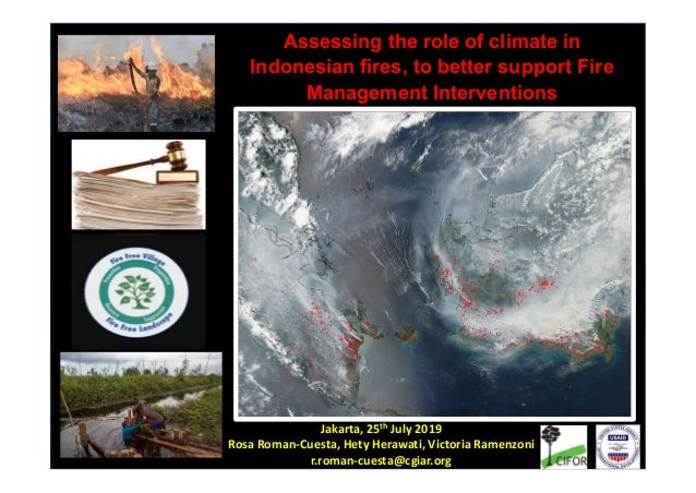 Rosa Maria Roman-Cuesta (R.Roman-Cuesta@cgiar.org) Assessing the role of climate in Indonesian fires, to better support Fi...