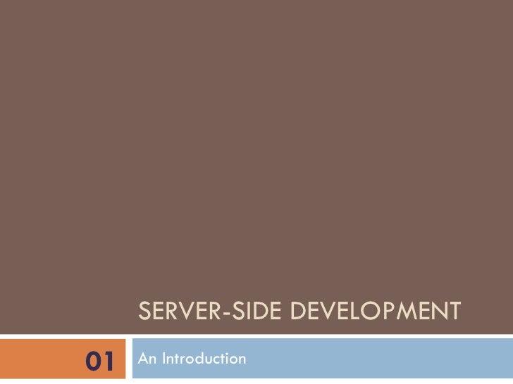 Web II - 01 - Introduction to server-side development