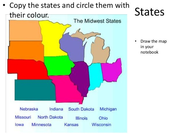 West And Midwest Geography - Map of midwest states