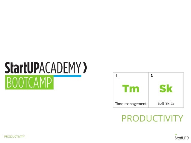 PRODUCTIVITYPRODUCTIVITYSkSoft Skills1TmTime management1