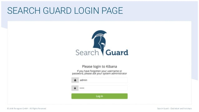 Search Guard Installation Quickstart | Security for Elasticsearch