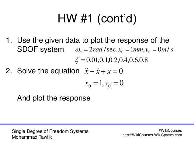 single degree of freedom system pdf