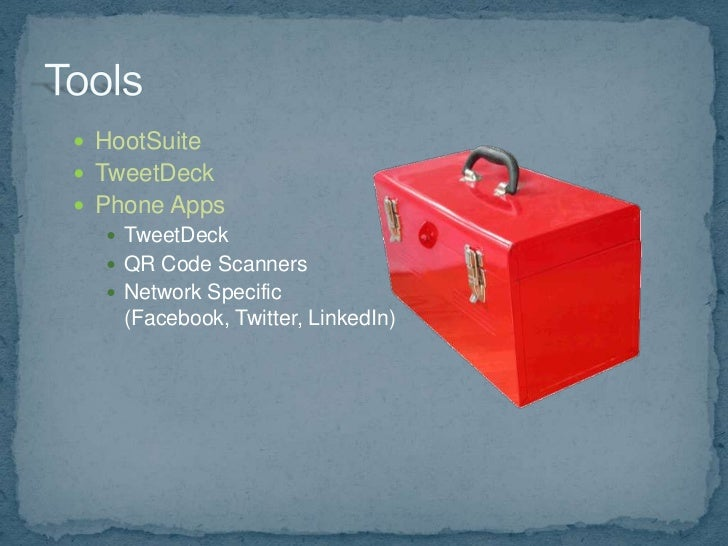  Product/service announcements Sell – share coupon codes/links Talk around the brand Cutting edge news Contests Cust...