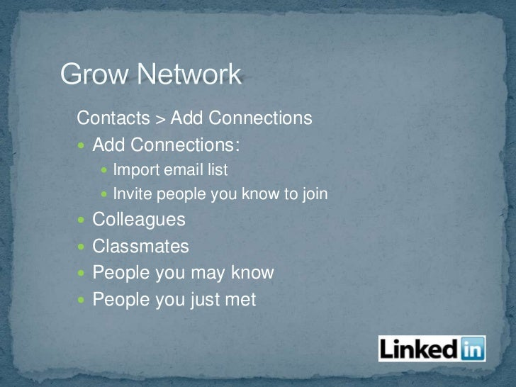  Career/job postings Start discussions Status updates show in email messages events.linkedin.com Join groups and cont...