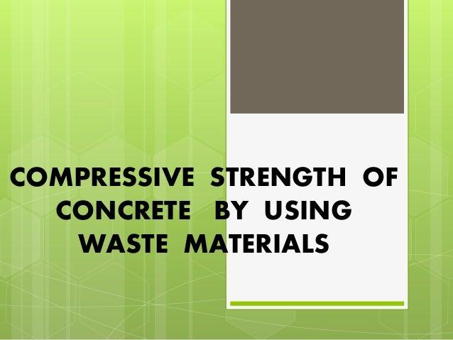 compressive strength of materials pdf