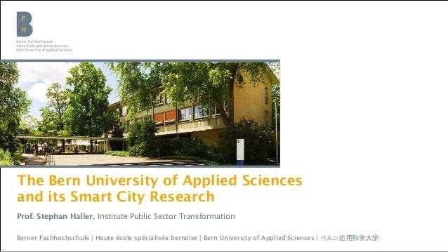 Bern University of Applied Sciences | Institute Public Sector TransformationBerner Fachhochschule | Haute école spécialisé...
