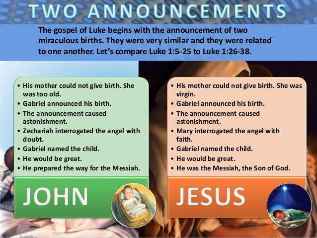 01 the coming of jesus – Jesus Birth Announcement