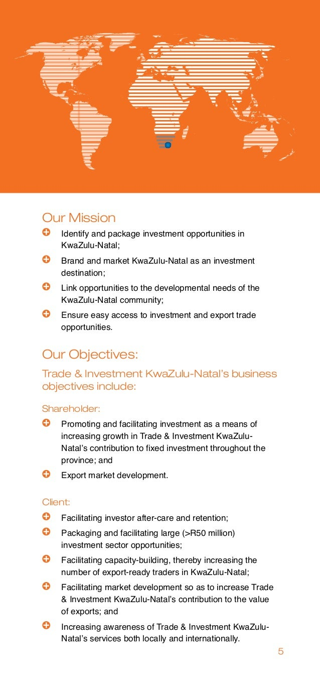 Trade and investment kwazulu-natal vacancies in nigeria mickey cartin investments for dummies