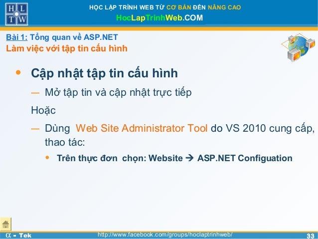 3333HỌC LẬP TRÌNH WEB TỪ CƠ BẢN ĐẾN NÂNG CAOHocLapTrinhWeb.COMα - Tek http://www.facebook.com/groups/hoclaptrinhweb/• Cập ...