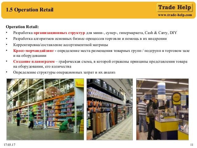 www.trade-help.com 17.03.17 11 1.5 Operation Retail Operation Retail: • Разработка организационных структур для мини-, суп...