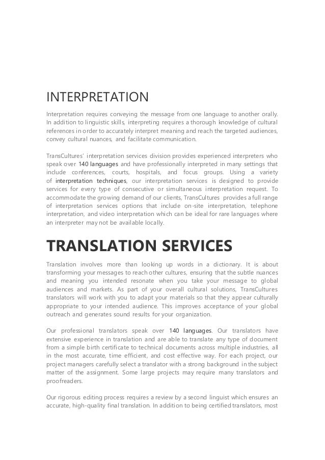 strategies for translating and interpreting cultural Problem of translating idioms both in social and religious culture from arabic into english language and vise versa the strategies that could contribute to overcome the.