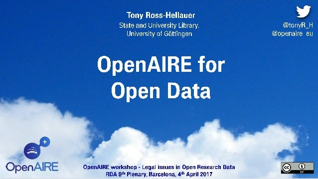 Policies and practices hand in hand for sustainable OA Putting research in its proper context: Intelligent discovery Trans...