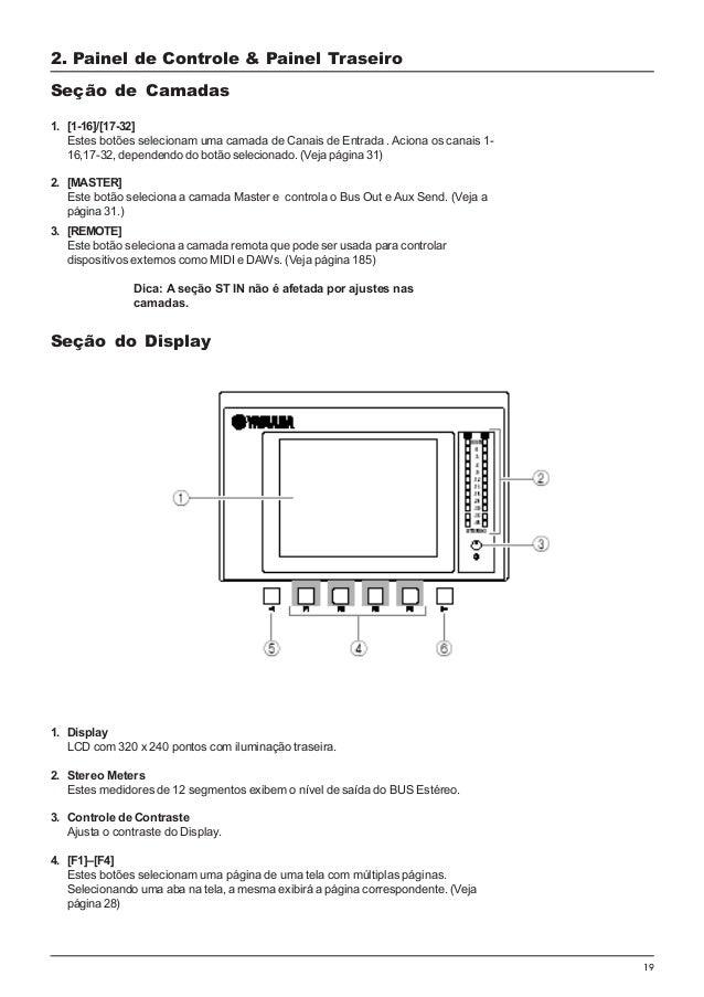 yamaha 01v96 portugues rh pt slideshare net Audio Mixer yamaha 01v96 block diagram