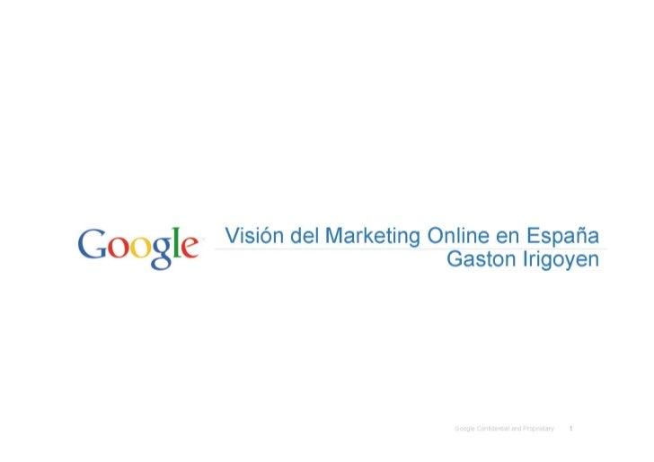 Vision del Marketing Online en España