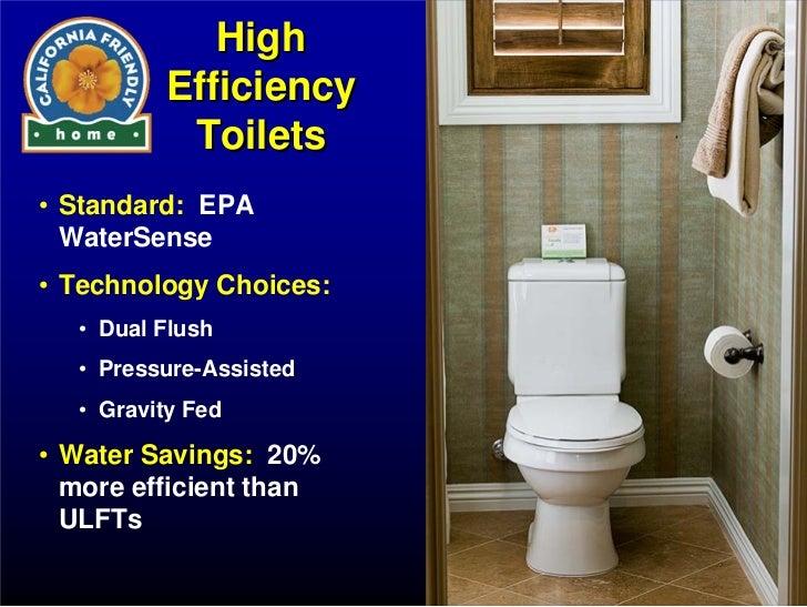 high efficiency toilets