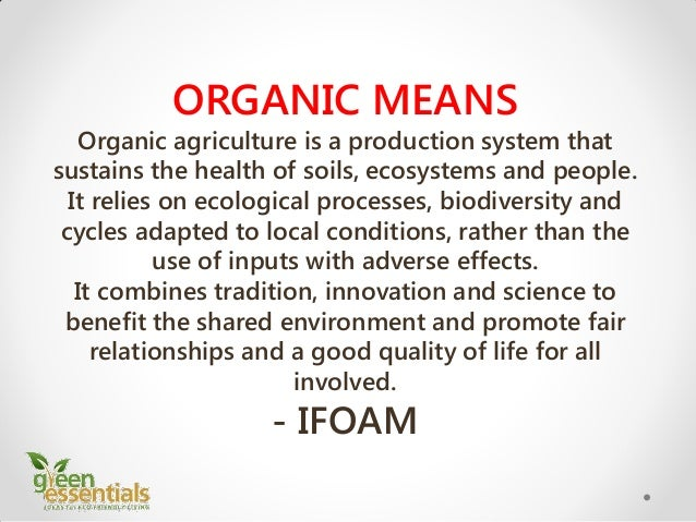 What S So Different About Organic Food