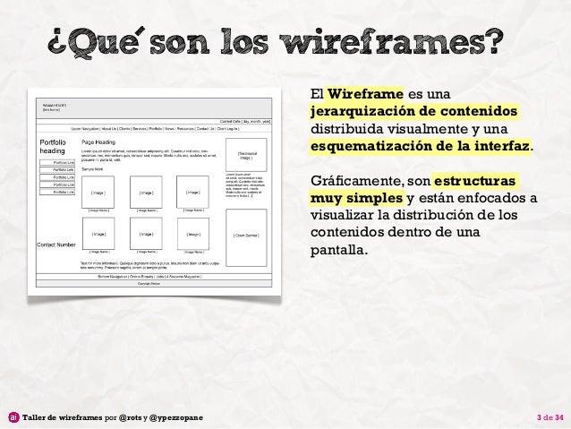 Taller de Wireframes Slide 3