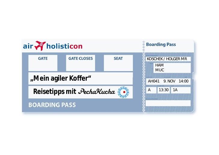 "KOSCHEK / HOLGER MR                            HAM                            MUC  ""Mein agiler Koffer""   AH041 9. NOV 14:..."