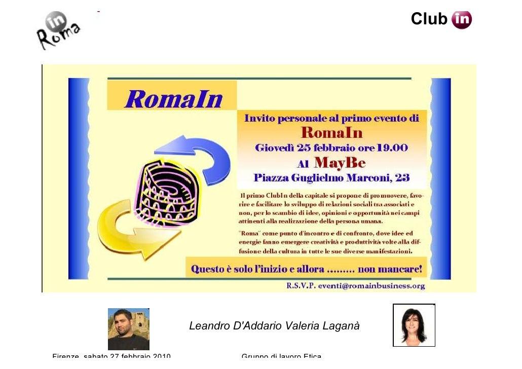 Club                                        Leandro D'Addario Valeria Laganà  Firenze, sabato 27 febbraio 2010            ...