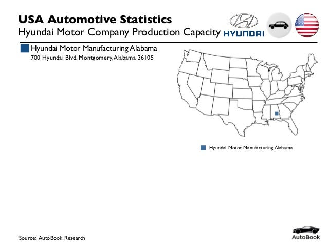 2015 00 usa automotive oem capacity for Kia motors montgomery al