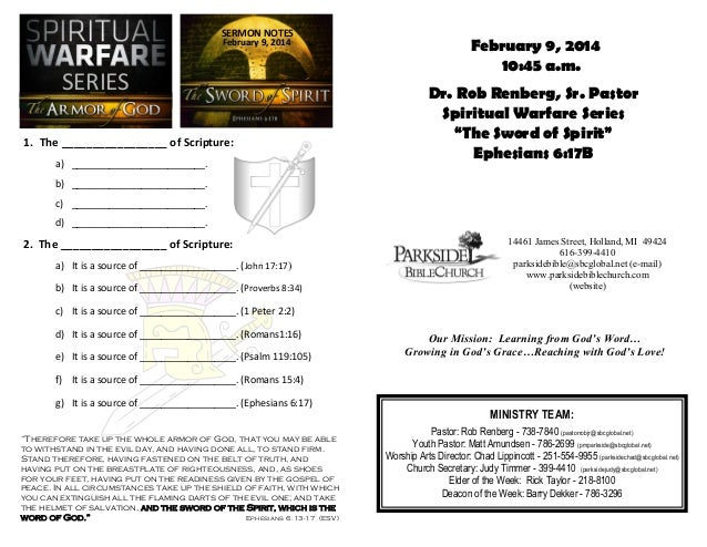 SERMON NOTES February 9, 2014  SERIES 1. The _________________ of Scripture: a) _________________________.  February 9, 20...