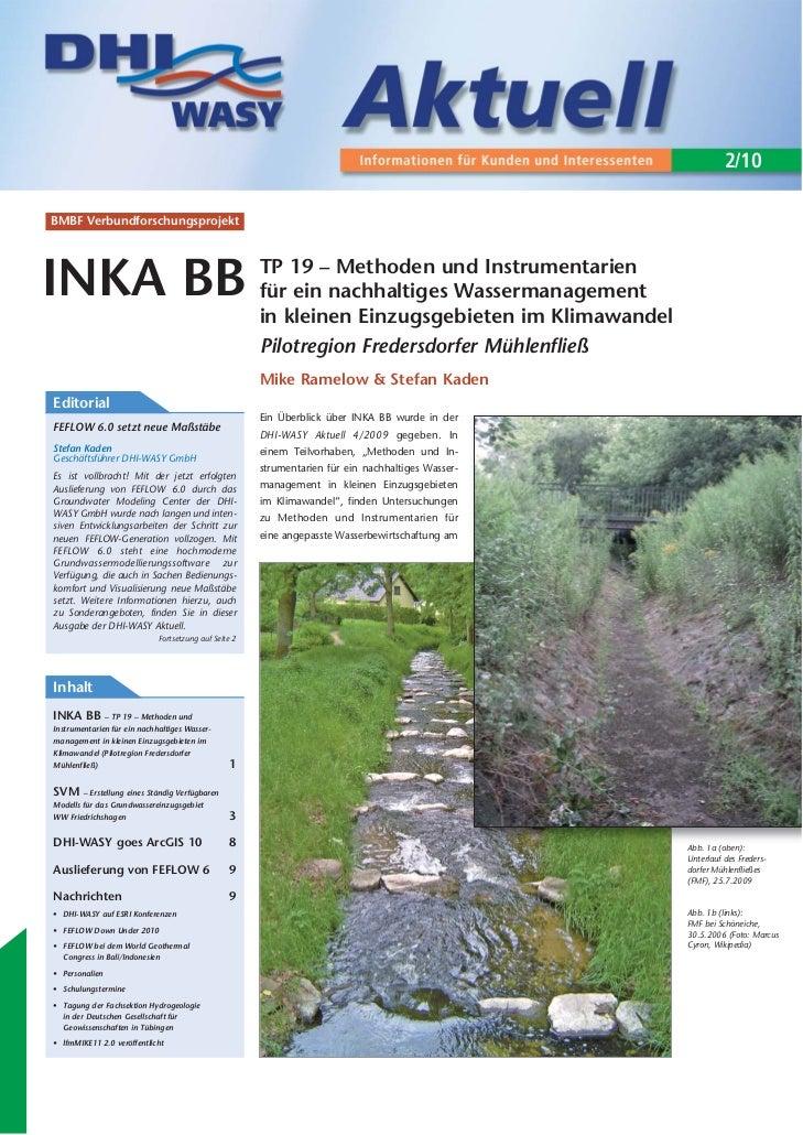 2/10BMBF VerbundforschungsprojektINKA BB                                                TP 19 – Methoden und Instrumentari...