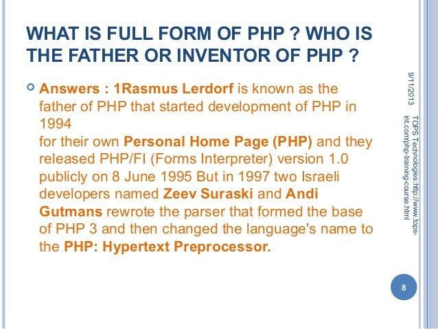 php language full form