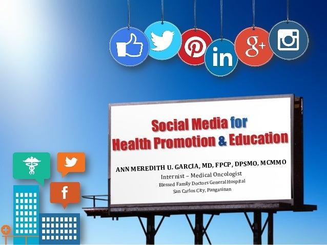 Social Media and Health Communication  |Social Media Health Education