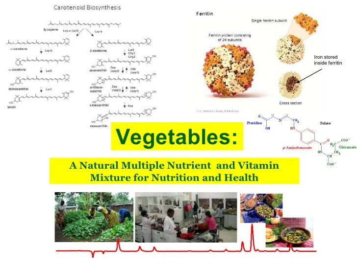 Iron stored                                          inside ferritin        Vegetables:A Natural Multiple Nutrient and Vit...