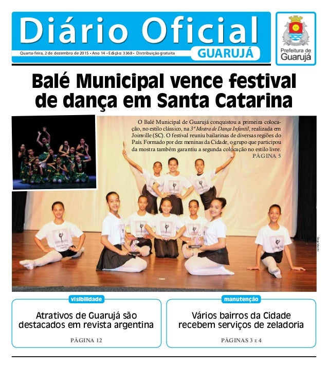 Atrativos de Guarujá são destacados em revista argentina PÁGINA 12 visibilidade Vários bairros da Cidade recebem serviços ...