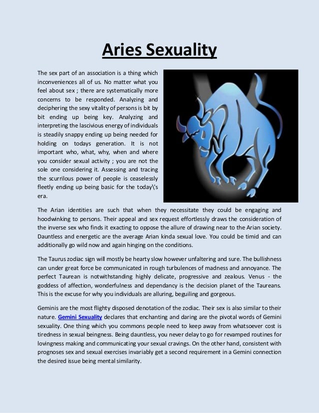 Aries and sexuality